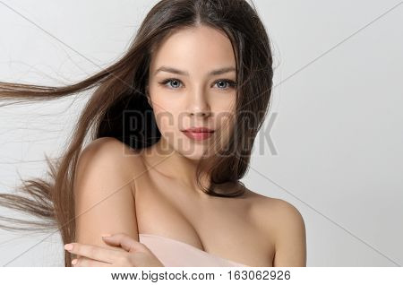 Girl With Fluttering Hair