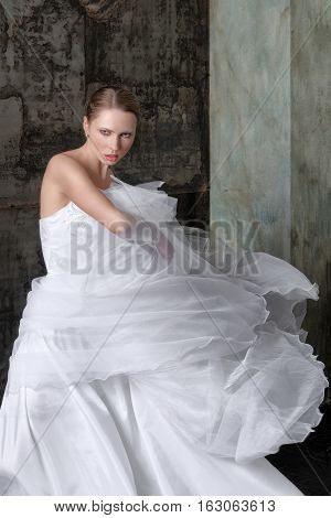 Bride Wore A Long White Dress