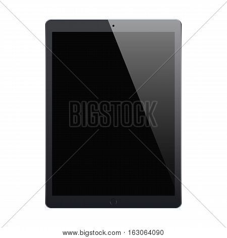 tablet black color with blank touch screen isolated on white background. stock vector illustration eps10