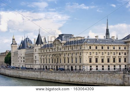 France, Paris - July 30, 2014: Conciergerie. On The Banks Of The Seine River. Part Of The Complex Of