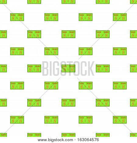 Scoreboard pattern. Cartoon illustration of scoreboard vector pattern for web