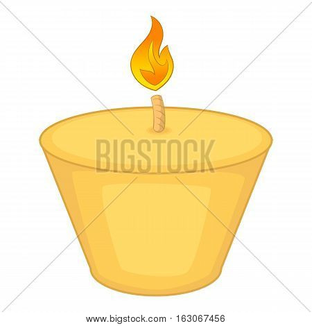 Candle icon. Cartoon illustration of candle vector icon for web design