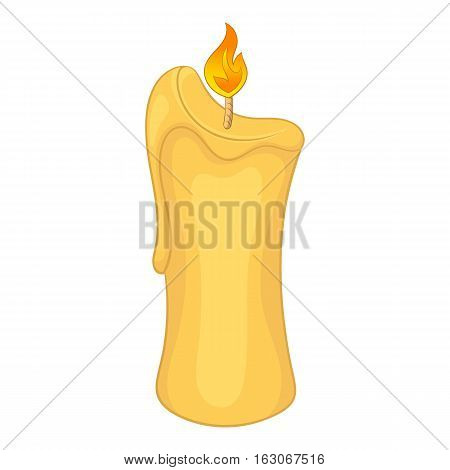 Paraffin candle icon. Cartoon illustration of candle vector icon for web design