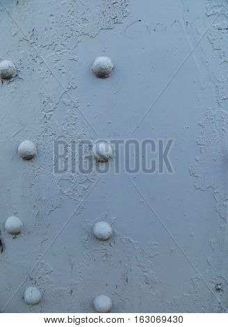 Details of the rivets on a bridge