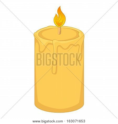 Aromatic candle icon. Cartoon illustration of candle vector icon for web design