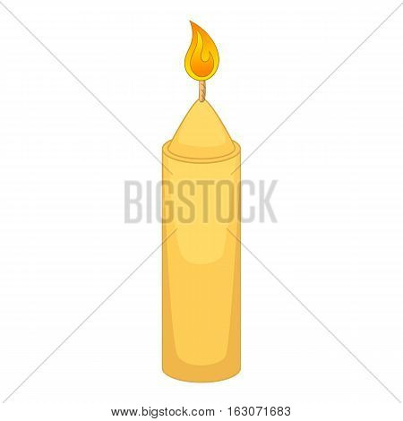 Christmas candle icon. Cartoon illustration of candle vector icon for web design
