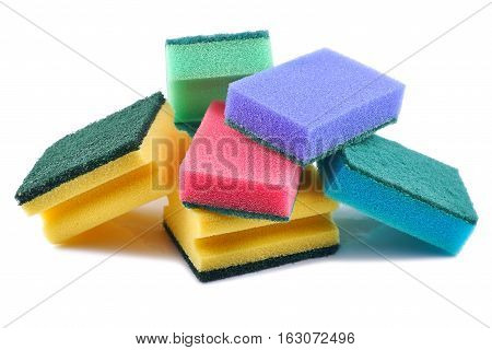 Cleaning equipment sponge cleaner on a white background