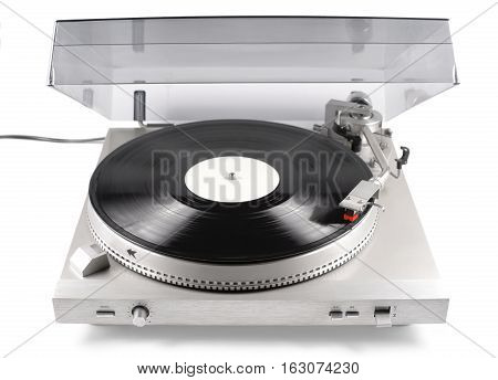 Turntable audio for playback of vinyl records from the 80s of last century