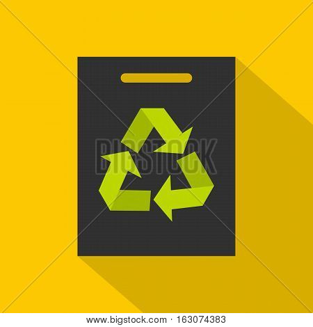 Recycling icon. Flat illustration of recycling vector icon for web