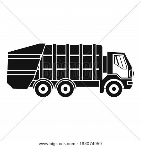 Garbage truck icon. Simple illustration of garbage truck vector icon for web