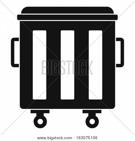 Metal trashcan icon. Simple illustration of metal trashcan vector icon for web