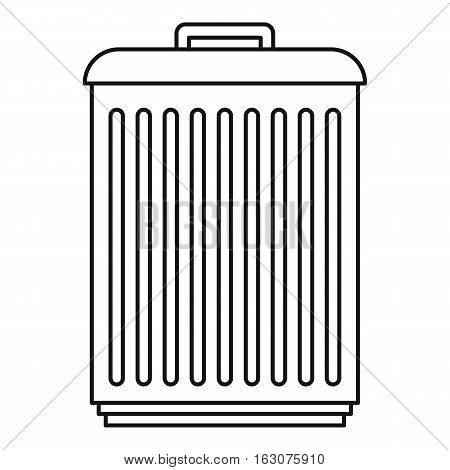 Trashcan icon. Outline illustration of trashcan vector icon for web