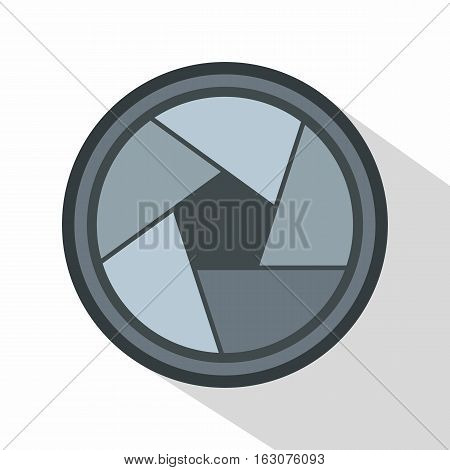 Photo objective icon. Flat illustration of photo objective vector icon for web