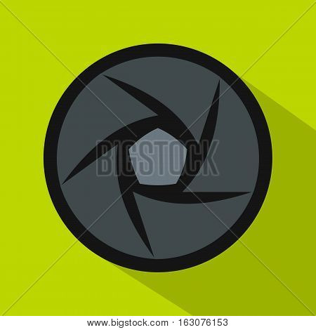 Video objective icon. Flat illustration of objective vector icon for web