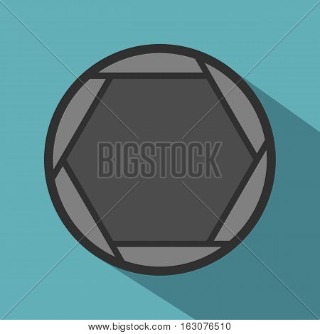 Closed objective icon. Flat illustration of closed objective vector icon for web