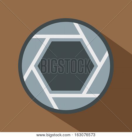Close objective icon. Flat illustration of close objective vector icon for web