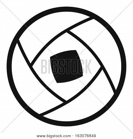 Semi-closed lens icon. Simple illustration of semi-closed lens vector icon for web