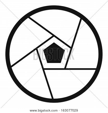 Photographic lens icon. Simple illustration of photographic lens vector icon for web