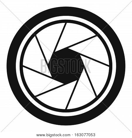 Photographic objective icon. Simple illustration of photographic objective vector icon for web