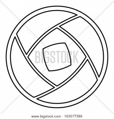 Photo objective icon. Outline illustration of photo objective vector icon for web