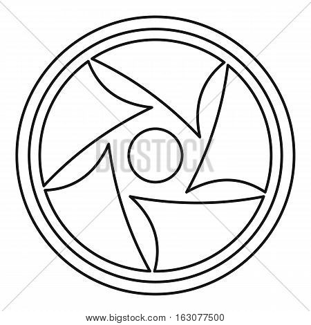 Video lens icon. Outline illustration of video lens vector icon for web