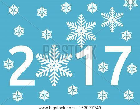 Snowflake, New Year 2017