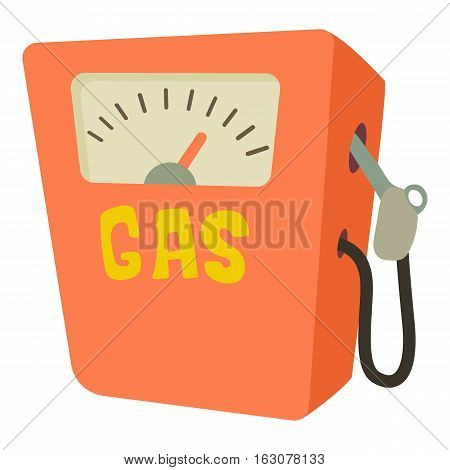 Gas station icon. Cartoon illustration of gas station vector icon for web