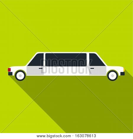 Limousine icon. Flat illustration of limousine vector icon for web