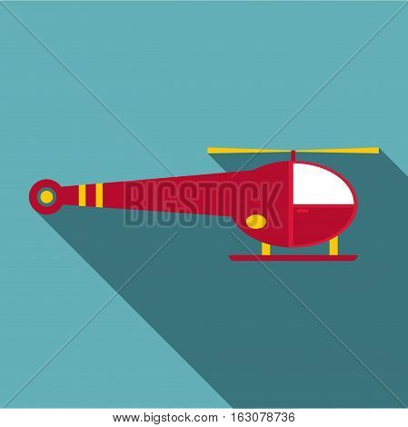 Helicopter icon. Flat illustration of helicopter vector icon for web