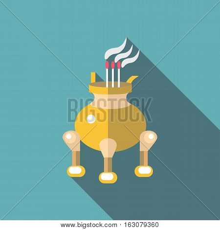 Asian porch icon. Flat illustration of asian porch vector icon for web