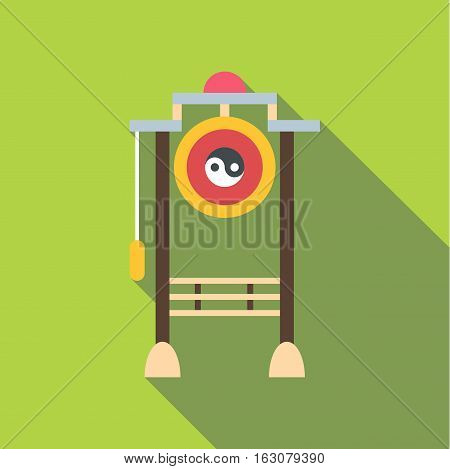 Asian gate icon. Flat illustration of asian gate vector icon for web