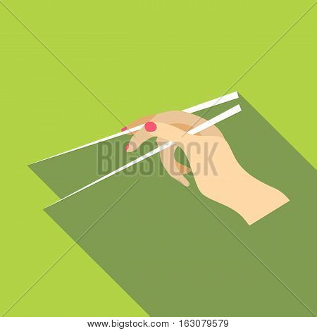 Chopsticks icon. Flat illustration of chopsticks vector icon for web
