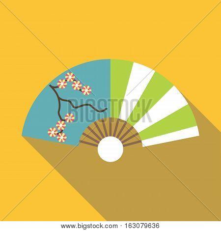 Asian fan icon. Flat illustration of asian fan vector icon for web