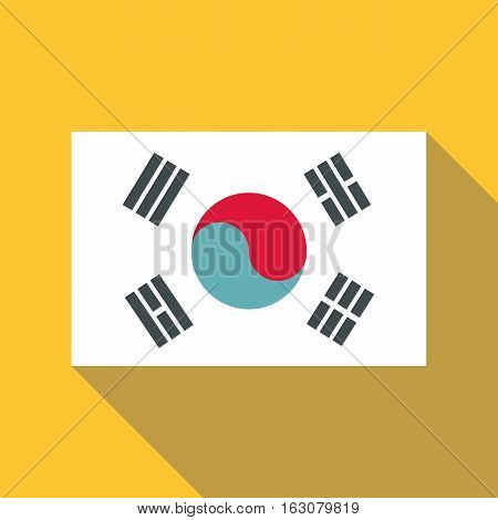 Korean flag icon. Flat illustration of korean flag vector icon for web