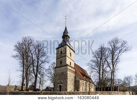 Old Church In The Small Village Of Benz