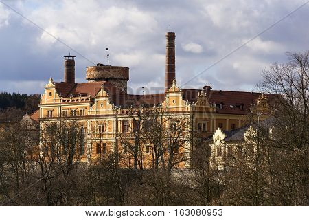 Citizens Brewery In Tabor, Czech Republic In Sunny Autumn Day