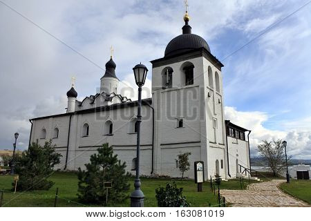 SVIYAZHSK RUSSIA - September 2016: the Church of St. Sergius of Radonezhkiy in St. John the Baptist monastery