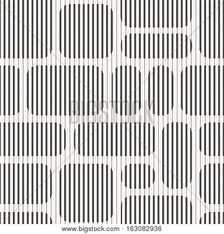 Abstract seamless geometric pattern - striped blocks