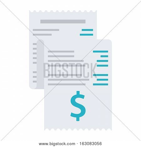 Invoice, bill icon vector illustration in flat style