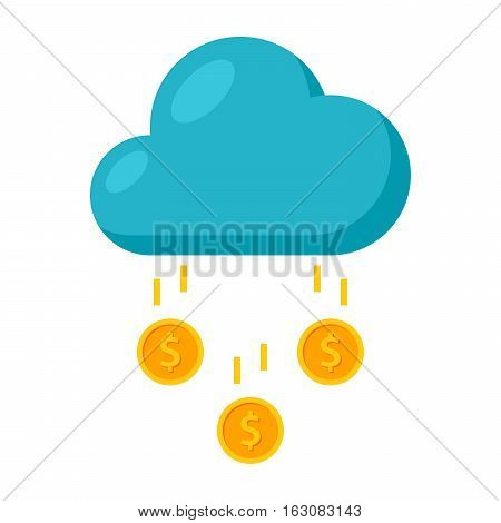 Concept of Success like a cloud with money rain