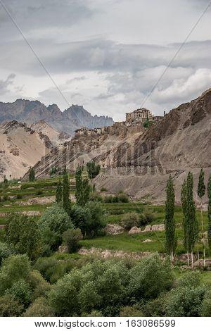 View to Lamayuru monastary in Ladakh India