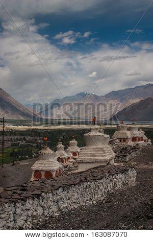 Diskit Monastary Ladakh near Pakistan in India