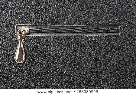 abstract background texture of leather and zipper