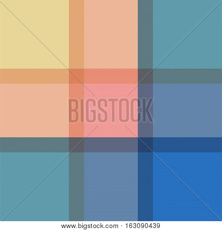 Madras plaid vintage seamless vector pattern. Retro colorful checkered shape background.