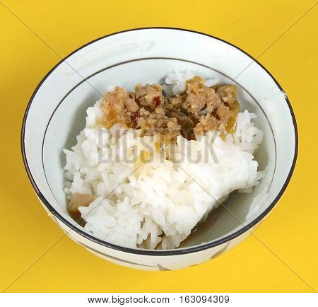 Rice with Minced Pork Sauce in Taiwan