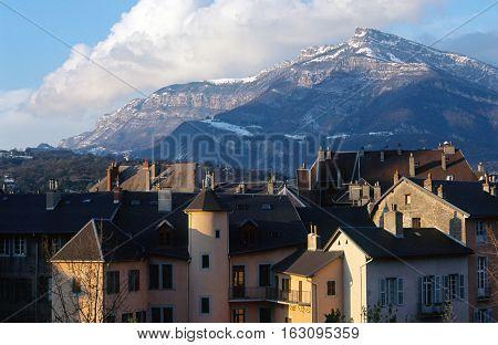 Chambery City On Winter