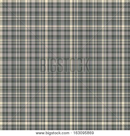 Checkered fabric tartan textile. Vector seamless pattern