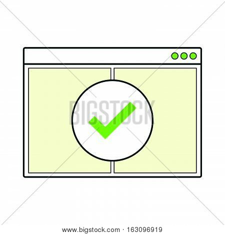 Opened internet browser window blank page template vector illustration on white background for web site mobile business.
