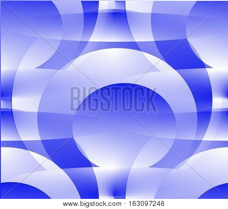 Seamless abstract background balls and circle of blue and white on a blue and white background close