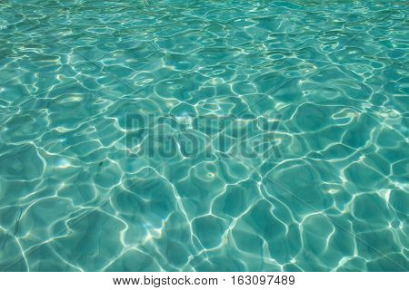 Crystal clear water of the tropical sea